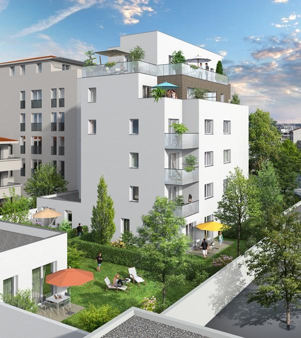 Achat appartements neufs lyon 69003 programmes immobiliers jardin bertille lyon slci promotions - Jardin villemanzy lyon lyon ...