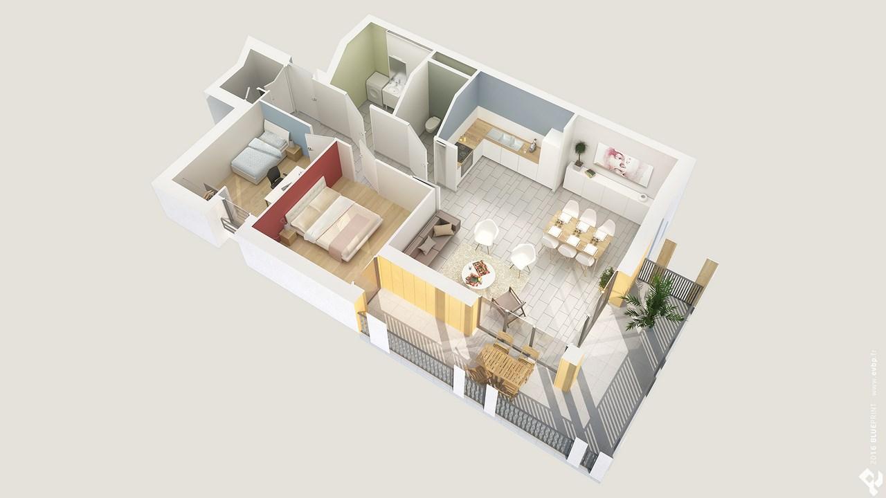 Acheter appartement 4 pi ces meyzieu 69330 slci for Acheter des plans architecturaux