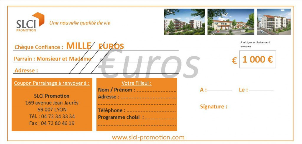 chèque 1000euros